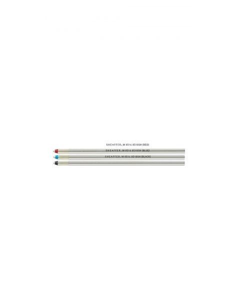 "Sheaffer® Ballpoint Refill ""C"" Style - Pack of 3 - 1 each:  Black, Blue, Red Medium (fits Quattro)"