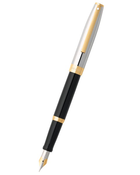 Sheaffer® Sagaris® Black Barrel and Chrome Cap Fountain Pen