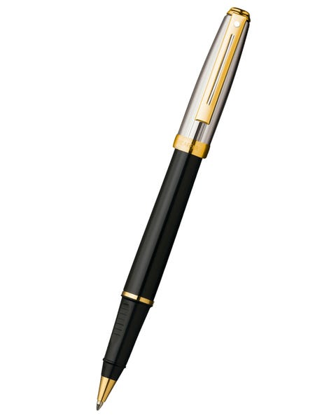 Sheaffer® Prelude® Black Onyx Lacquer Barrel and Chased Palladium Cap Rollerball Pen