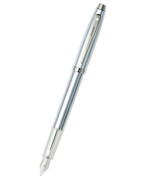 Sheaffer® 100 Brushed Chrome Fountain Pen